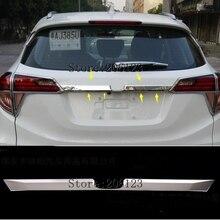 Подходит для Honda HR-V HRV VEZEL хромированная Задняя отделка крышки багажника хвостовые ворота грузовая дверная ручка Garnish молдинг стиль