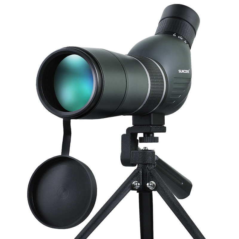 Suncore 15-45X60A Waterproof MS Zoom Spotting Scope for Birdwatching Long Range Target Shooting Monocular Telescope waterproof spotting scope 20 60x60 for birdwatching long range target shooting spotting scope with tripod phone adapter