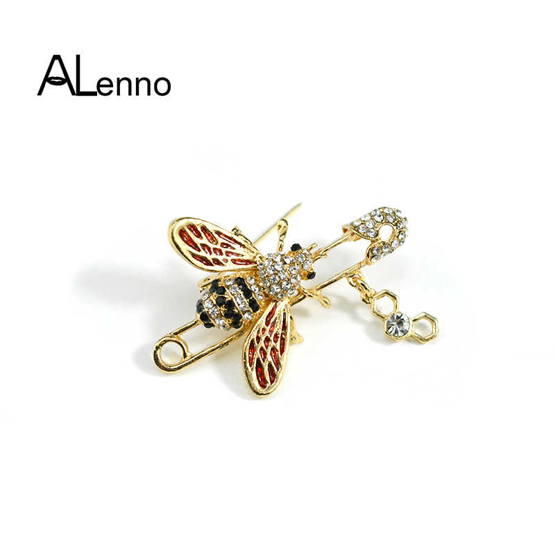 34fb2dbde87 Alloy Cute Enamel Tack Bee Brooch Pins Women's Shirt Accessories Badges On  The Clothes Insect Jewelry