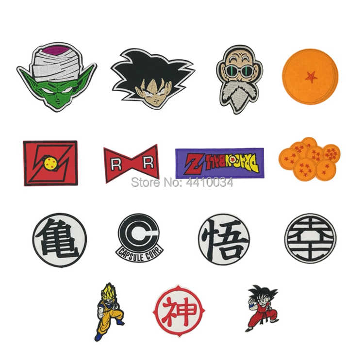 Dragon Ball iron on patch DBZ Roshi Vegeta Z Kame Turtle Symbol Logo Goku Keio Anime Japanese Cosplay Embroidered Emblem otaku