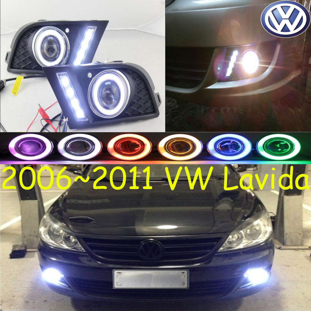ФОТО Car-styling,Lavida fLED og lamp,2006~2011,chrome,Free ship!2pcs,Lavida head light,car-covers,Halogen/HID+Ballast;Lavida