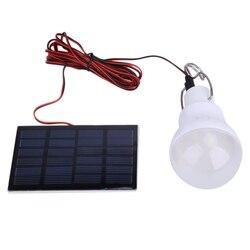 5 V 130LM Портативный Солнечный Мощность Светодиодный лампа солнечное освещение для наружного использования Панель палатки ночник для рыбалк...