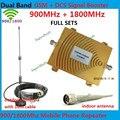 Conjuntos completos GSM Otário Antena + Dual Band GSM DCS Repetidor! GSM 4G 900 MHz Reforço De Sinal GSM 2G 1800 MHz Telefone Celular Amplificador