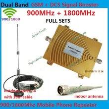 Ensembles complets GSM Sucker Antenne + Double Bande GSM DCS Répéteur! GSM 4G 900 MHz Signal Booster GSM 2G 1800 MHz Téléphone Mobile Amplificateur