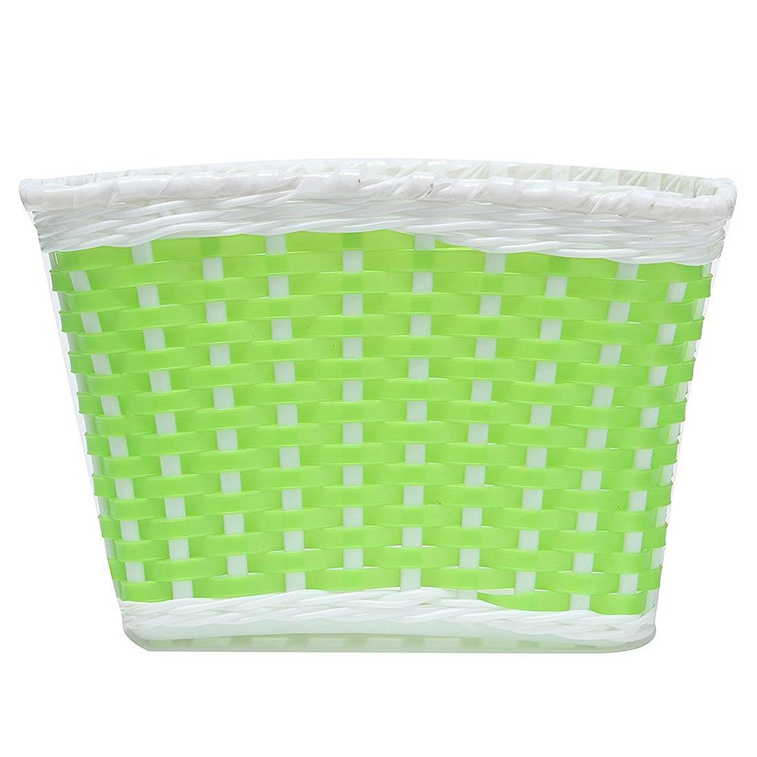 Children Bicycle basket Shopping basket Luggage carrier Handlebar basket Bike handle basket green