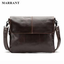 MARRANT Echtem Leder Mode Für Männer Taschen Männer Messenger Business herren reisetasche leder crossbody umhängetasche Handtaschen