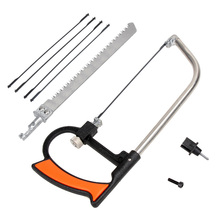 цена на 7 In 1 Diy Hand Saw Multi-Purpose Small Hacksaw Hacksaw Frame With Hacksaw Bar Model Steel Saw Woodworking Jigsaw Devil Saw