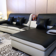 Black washed PU leather sofa cushion fabric four seasons universal disposable waterproof European-style towel