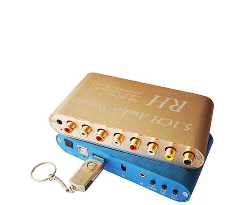GO520 USB цифровой звук/media player, 5.1CH аудио Системы, DTS/AC3 S/PDIF аудио декодер для 5.1 канальный усилитель