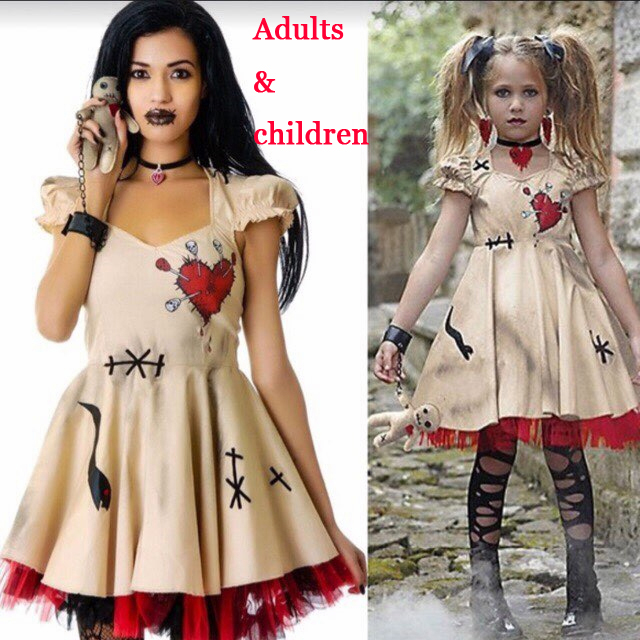 Adult Child Costume Halloween Devil Cosplay Party Devil Corpse Bride Costume Female Halloween Scary Costume Vampire