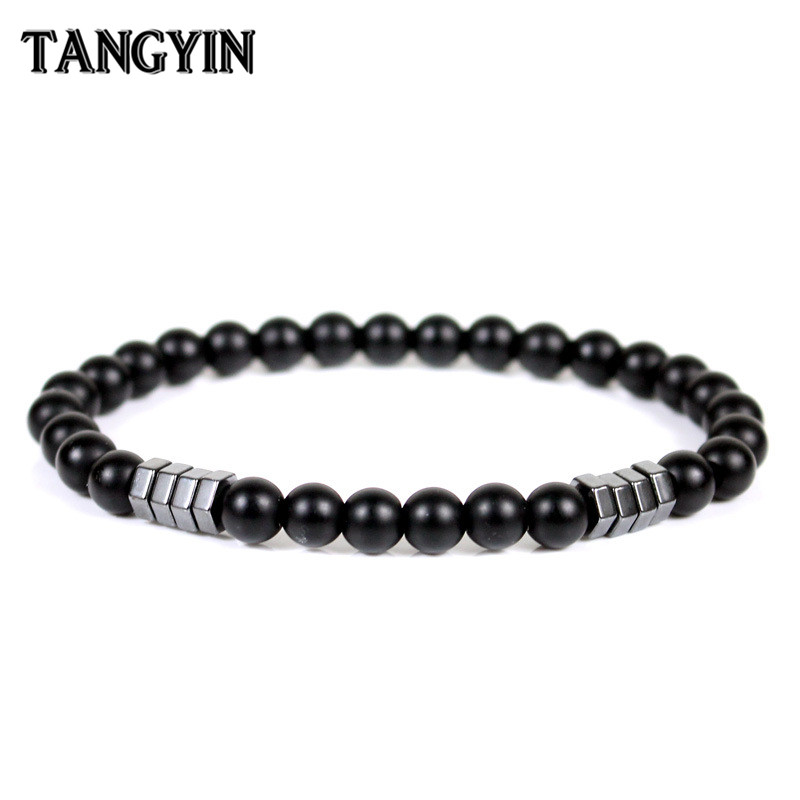 énorme réduction 8ce00 420b5 US $0.87 50% OFF|Best Selling Men Beaded Bracelet Homme Male Simple Fashion  6mm Energy Stone Beads Bracelets For Women And Men Hand Jewelry Gift-in ...