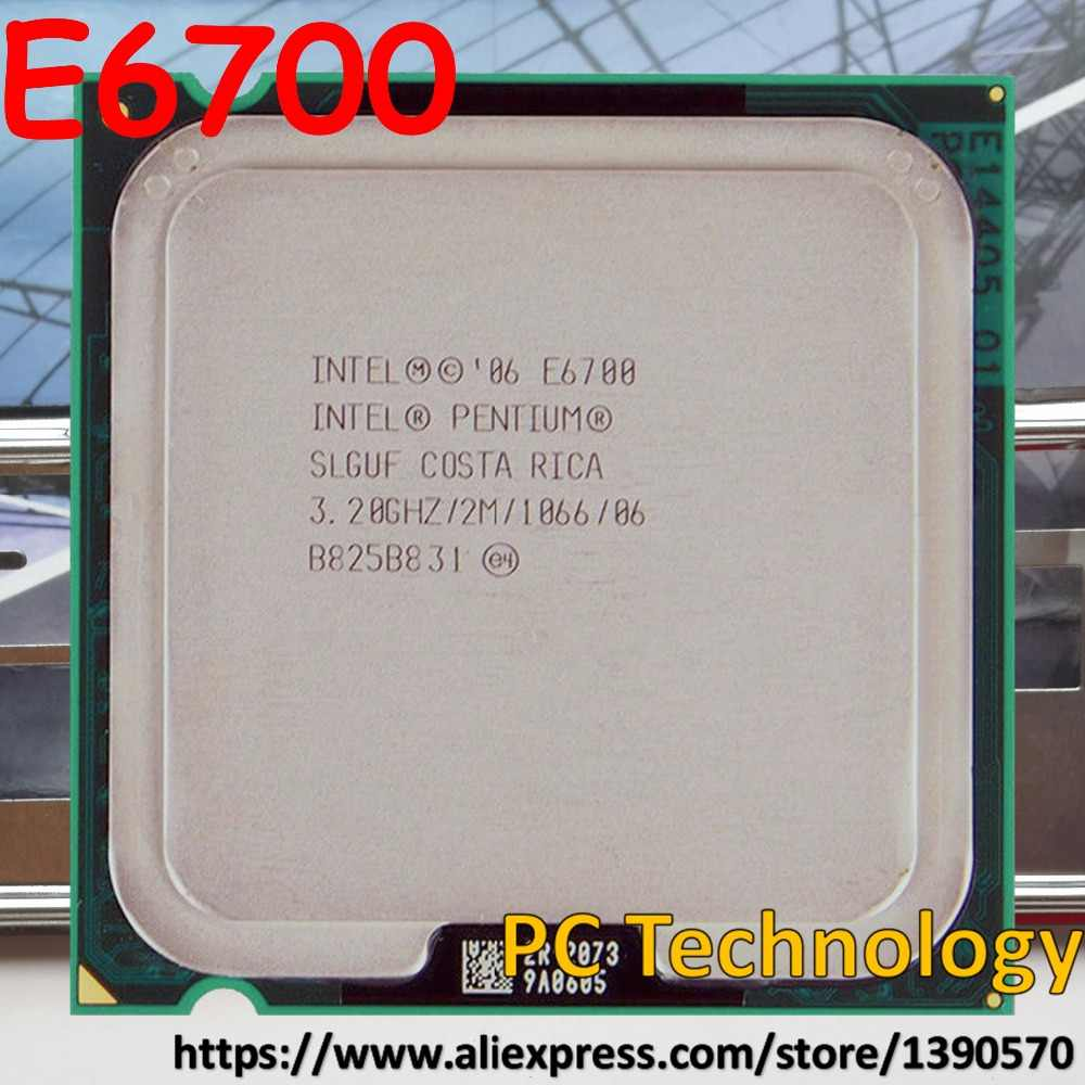 Original Intel Pentium Dual-Core CPU E6700 3.20GHz 2M 1066 LGA775 processor ship out within 1 day 100% test well