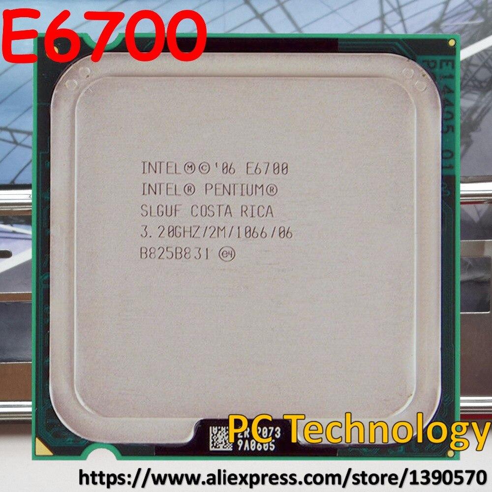 Оригинальный двухъядерный процессор Intel Pentium E6700, 3,20 ГГц, 2 м, 1066 LGA775, отправка в течение 1 дня, 100% тестирование