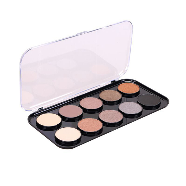 Pro 10 Earth Colors Eye Shadow Makeup Palette Smoky Matte Eyeshadow Kit Cosmetic Makeup Nude Shimmer Eye Shadow Kit High quality