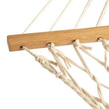 Promoção! Rede de balanço de corda de algodão branco pendurado na varanda ou em uma praia