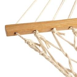 Promocja! Białe bawełniane liny huśtawka hamak wiszące na werandzie lub na plaży w Hamaki od Meble na