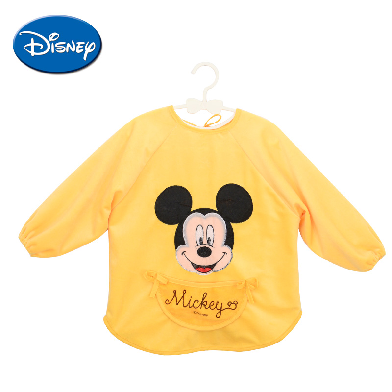 Disney Fleece Baby Bibs Mickey Burp Waterproof Saliva Towel Minnie Cartoon Children Cloths Cotton Bib Babador Accessories