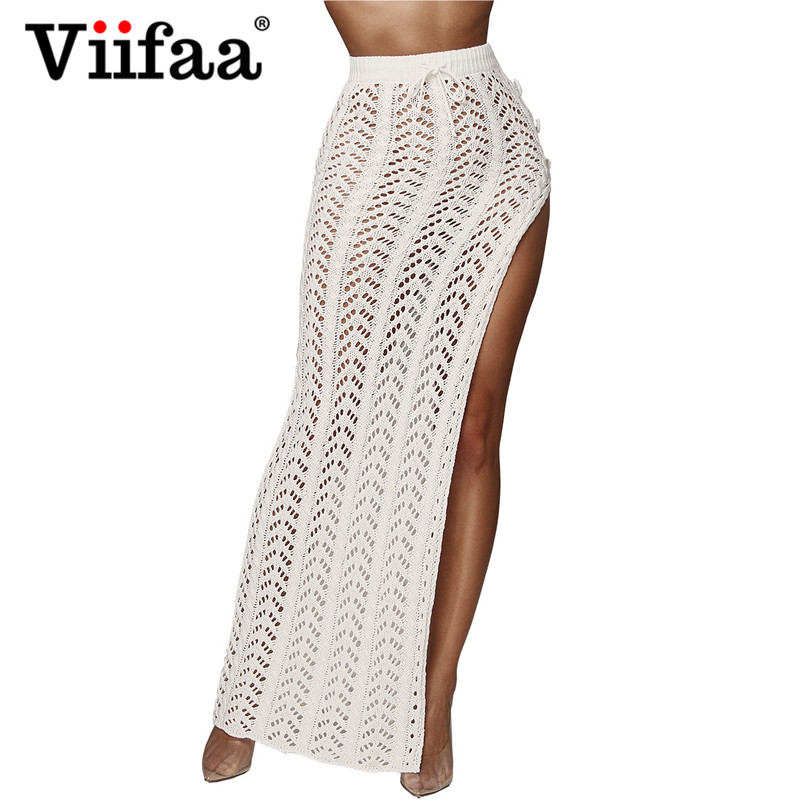 475ec6351b Cheap Skirts, Buy Directly from China Suppliers:Viifaa Crochet Knitted Long  Skirt Bodycon Hollow