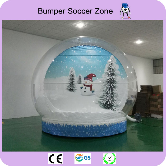 Free Shipping Diameter 4m PVC Inflatable Snow Ball For Christmas Inflatable Advertise Show Ball Inflatable Snow Globe 10pcs lot cold resistant pvc inflatable unicorn winter snow tube inflatable snow games toys snow tube toy