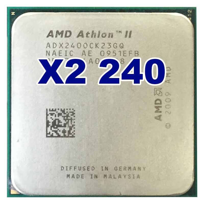 D'origine AMD CPU Athlon II X2 240 CPU 2.8 GHz Socket AM3 AM2 + Processeur 65 W 4000 MHZ Pib Dual-Core