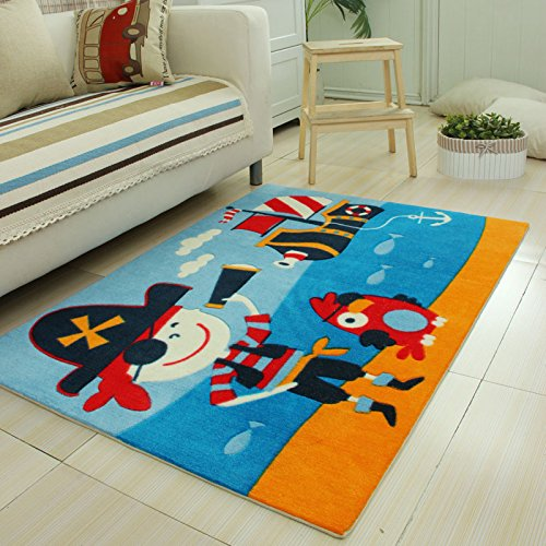Cute Cartoon Pirate Captain Bedroom Carpet Unique Space