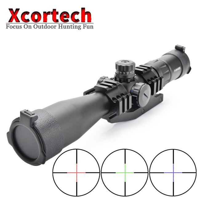 Tactical 3-9x40 BE Hunting Riflescope Mil Dot RGB Illuminated Optics Sight Reticle Rifle Scope With Cantilever Mount