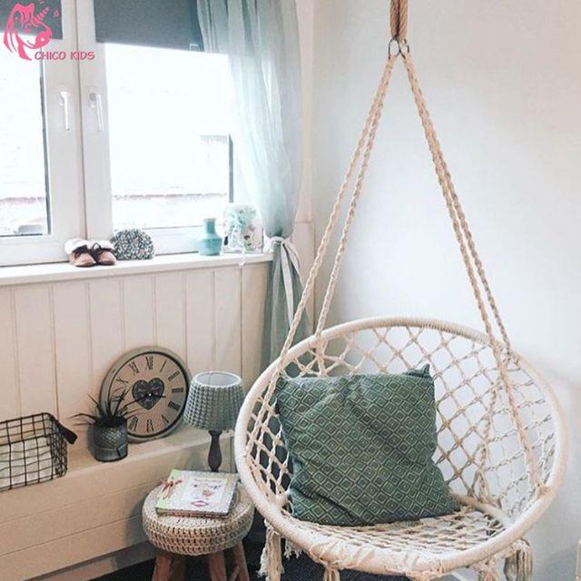 Round hammock outdoor indoor dormitory bedroom Nordic