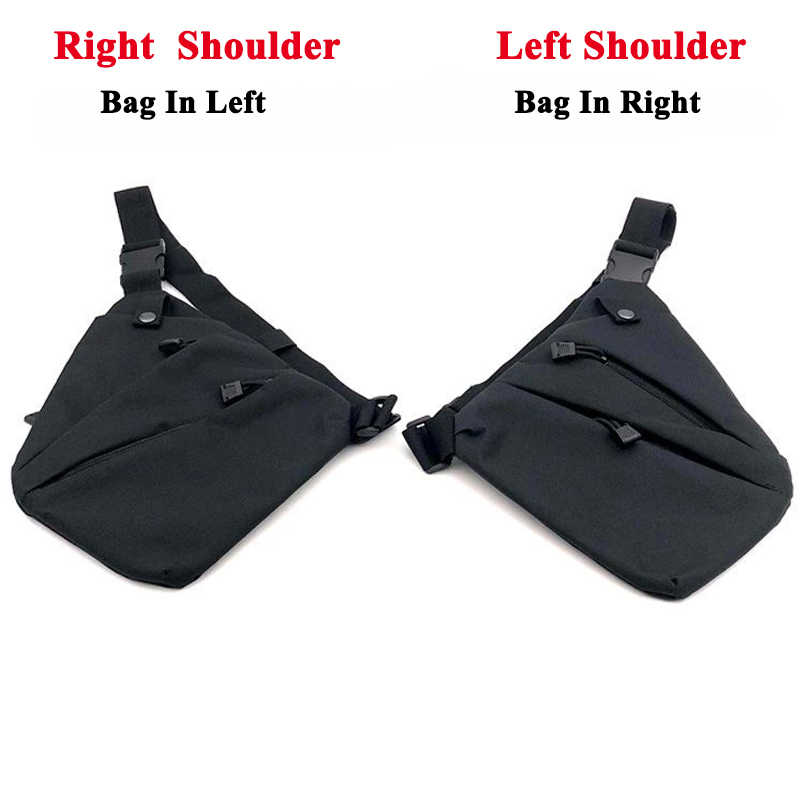 Outdoor Men's Chest Bag Anti-theft Bag Tactical Left / Right Shoulder Bag Pistol Nylon Holster Pouch