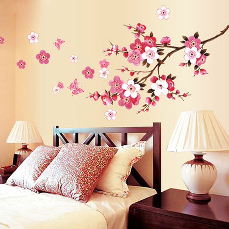 1set Flowers Erflies Removable Wall Stickers Water Decals Art Diy Home Decor Vinyl Walls Living Room In From