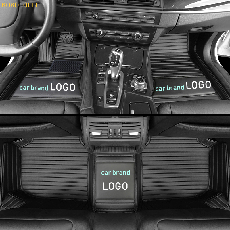kokololee car floor mat for bmw LOGO BMW f10 x5 e70 e53 x4 f11 x3 e83