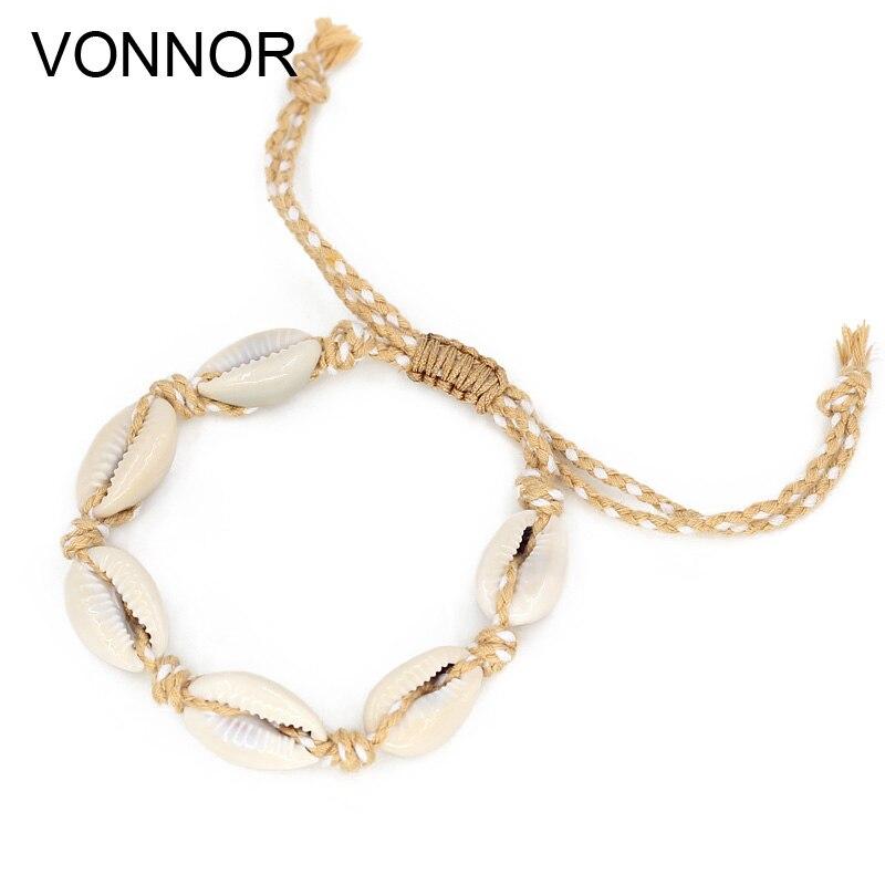 3e04d81a96dc VONNOR joyería de moda conchas pulseras accesorios de mujer hecho a mano de  la Amistad pulsera