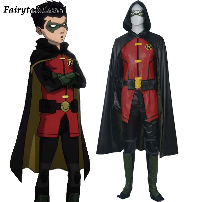 Justice League Vs Teen Titans Damian Wayne Cosplay Costume -9749