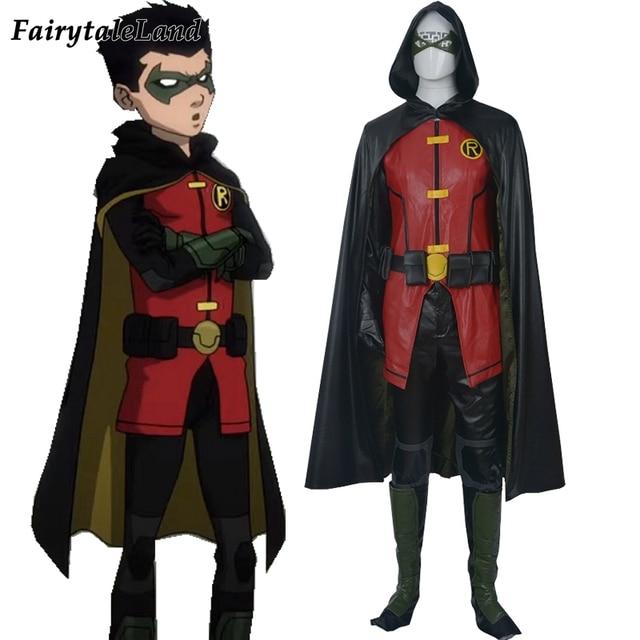 Justice League Vs Teen Titans Damian Wayne Cosplay Costume -1853