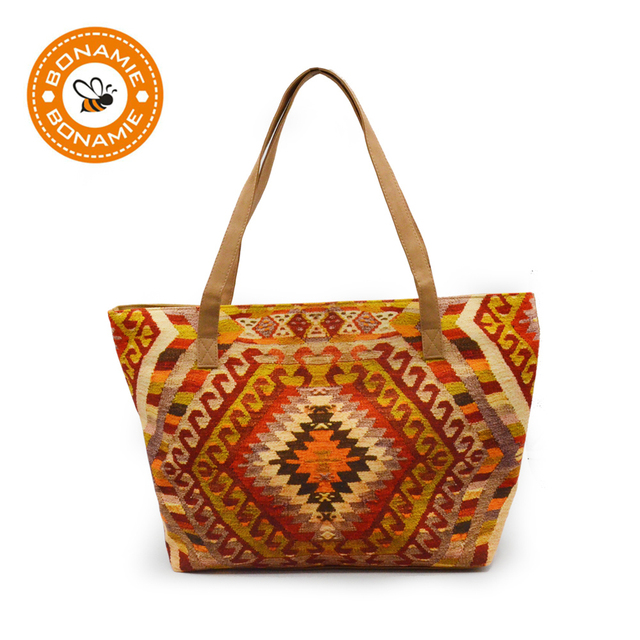 e3cad65d8bece BONAMIE Brand Design Women Large Capacity Casual Tote Handbags Fashion  Female Canvas Beach Bag Shoulder Bag