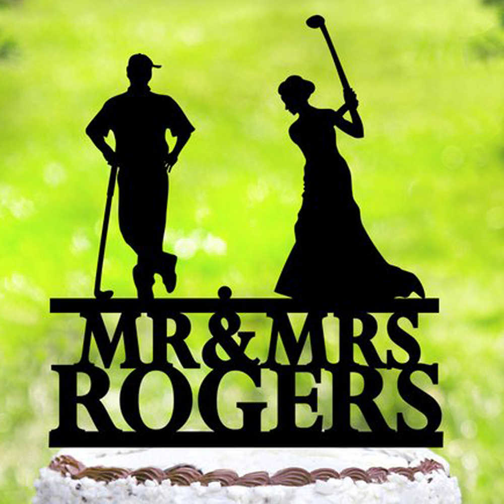 Personalized Golf Wedding Cake Topper Lover Ever