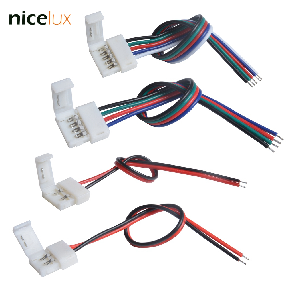 hight resolution of detail feedback questions about 10pcs 2 4 5 pin led strip connector for 8mm 10mm 12mm 3528 5050 5630 rgb rgbw ip20 non waterproof led tape light to wire