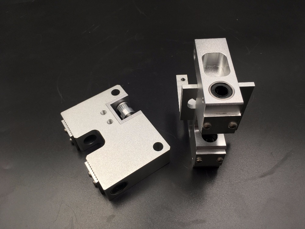 Funssor Aluminum X axis metal Extruder Carriage +Y axis carriage kit  For  CTC Replicator Flashforge 3D printer Upgrade