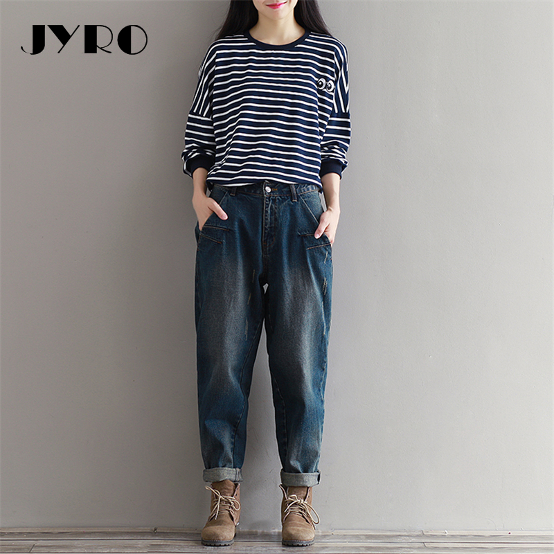 1986f23bae JYRO-Brand-Women-2527s-T-Shirts-Loose-Large-Size-In-The-New-Literature-Long- Sleeved-Striped.jpg