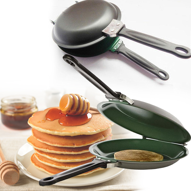 Reversible Flip Non-Stick Frying Pan Pancake Egg Cake Maker Machine Kitchenware Pancakes DIY Handmade Bake Pan Baking Machine