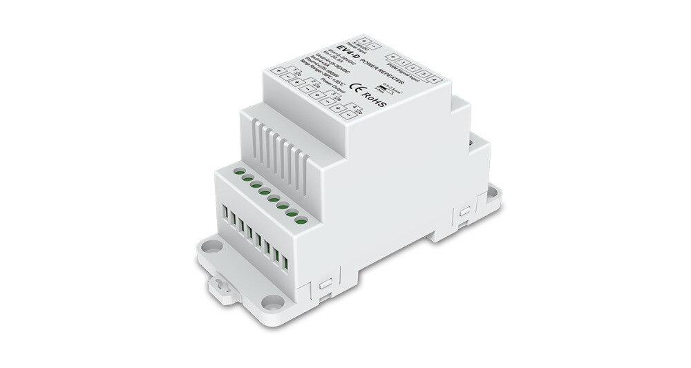 Rgb-controller 4ch Din-schiene Constant Voltage Power Repeater Ev4-d