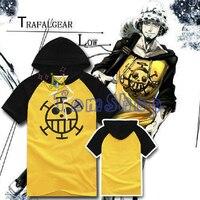 Anime One Piece Trafalgar Hukuk Cosplay Kostüm Erkek Kadın Kapşonlu Tee Gömlek Pamuk Hoodie T-Shirt Boyut M-XXL Ücretsiz Kargo