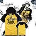 Anime One Piece Trafalgar Law Cosplay Homens Mulheres Camiseta Com Capuz Moletom Com Capuz de Algodão T-Shirt Tamanho M-XXL Frete Grátis