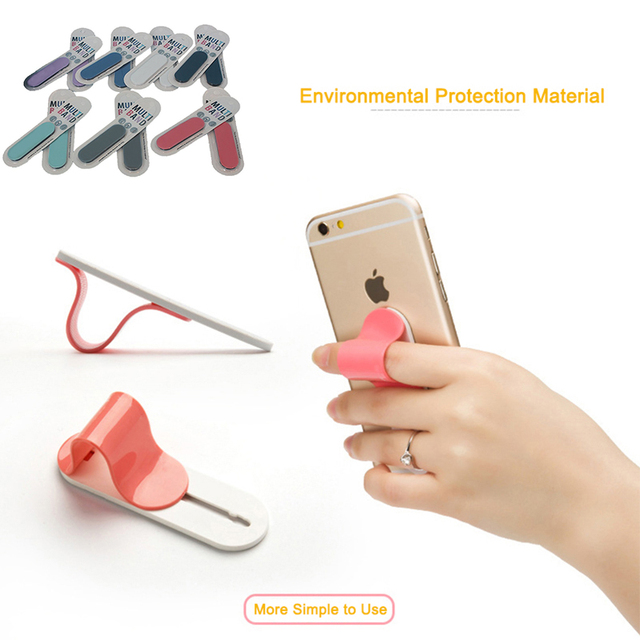 7c383304b Universal Phone Finger Ring Holder Anti Slip Secure Grip Holder Bracket Anti -Slip Handheld Finger Strap Phone Bracket Car Holder