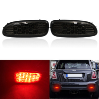 Fits For Mini Cooper R56 R57 R58 R59 Led Rear Fog Running Light Lamp Assembly Kit Smoke Lens Union Jack Style Car Styling