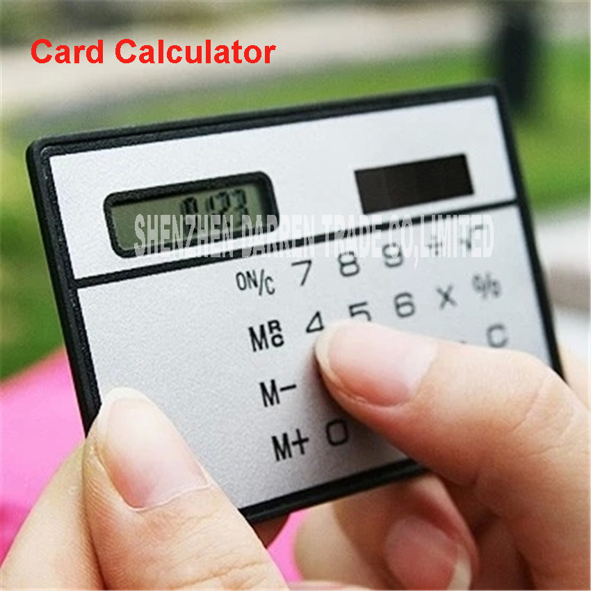 100pcs Slim Solar Calculator Pocket Of A Good Credit Card Market News Small wholesale Compact Travel