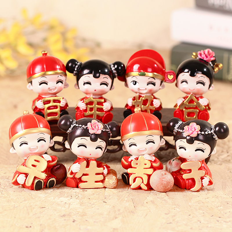 Creative wedding dolls hanging feet couple dolls furnishings new wedding layout resin ornaments wedding gifts wholesale