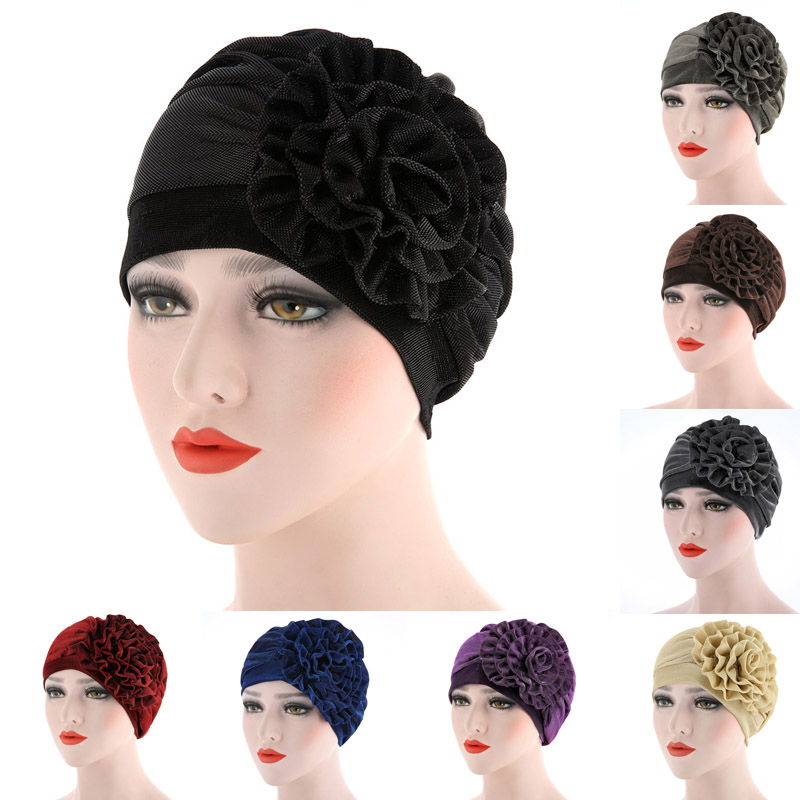 Obedient Muslim Womens Hijab Caps Hat Lady Flower Headwear Underscarf Adjustable Fashion Traditional & Cultural Wear mx8