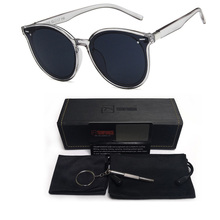 Retro Round Sunglasses Women Men Brand Design Transparent Cat Eyes Glasses UV Plastic Frame Female Sun Oculos De Sol