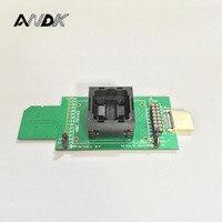 eMMC test socket flash chip eMMC153/eMMC169/BGA169 socket BGA153 Android phone flash data backup data recovery to SD HDMI