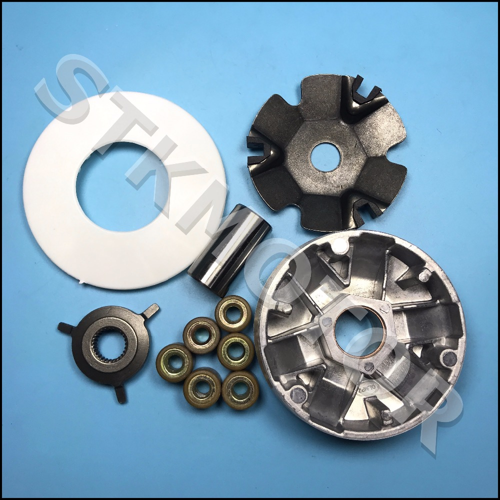 medium resolution of gy6 49cc 50cc scooter moped variator kit front clutch drive pulley with roller 139qmb 139qma taotao sunl kandi atv parts in atv parts accessories from